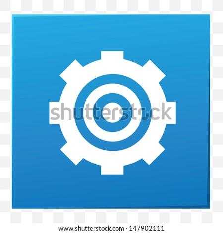 Gear symbol,vector - stock vector