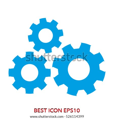 gear, technology, vector icon, eps10
