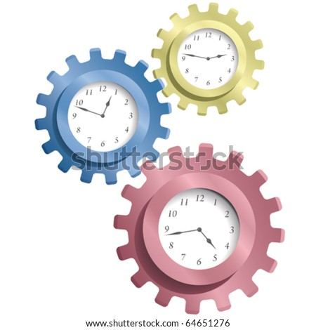 Gear & watches - stock vector