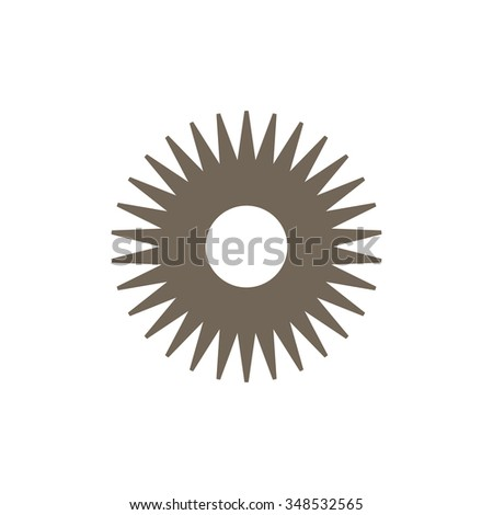 gear wheel on white background toolbox          - stock vector