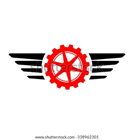 Gears Auto, Wheels Motor Racing - stock vector