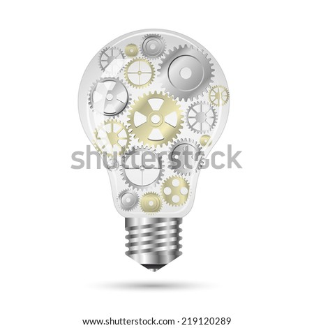 gears bulb idea concept in vector format