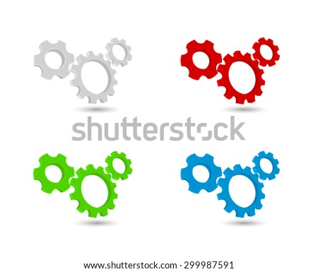 gears cogs icon working mechanism - stock vector