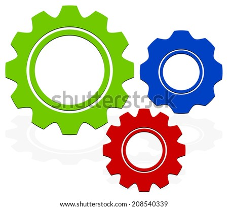 Gears composition - stock vector