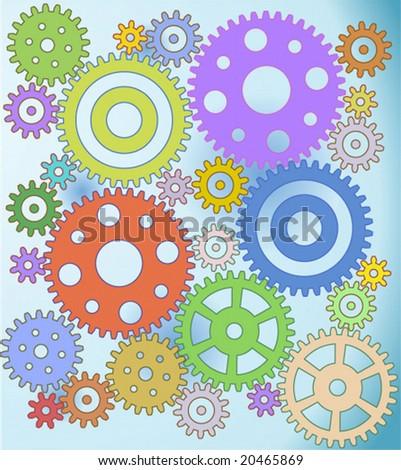 Gears, gears, gears... - stock vector