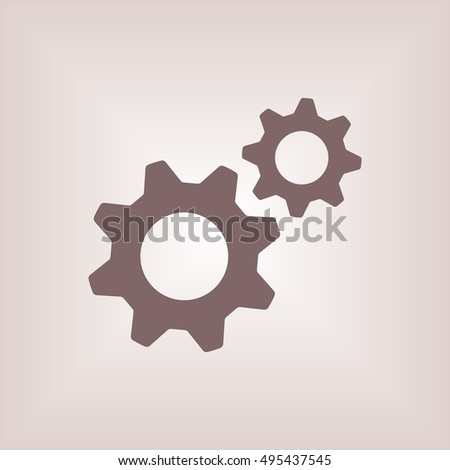 Gears icon. Flat design.