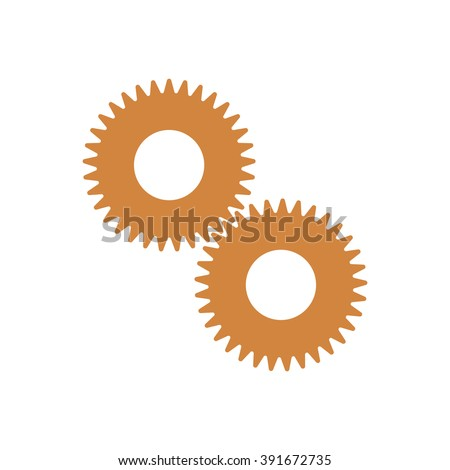 gears icon vector illustration. Flat design style