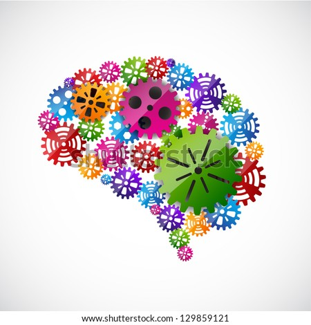 Gears mind. EPS10 vector - stock vector