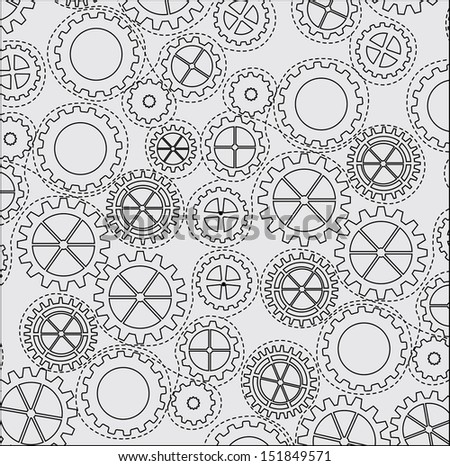 gears pattern over gray background. Vector Illustration