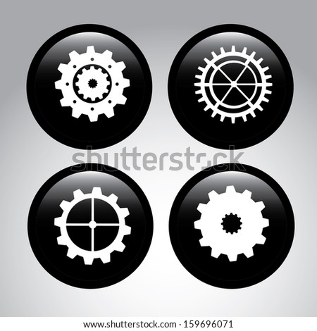 gears skin over gray background vector illustration  - stock vector