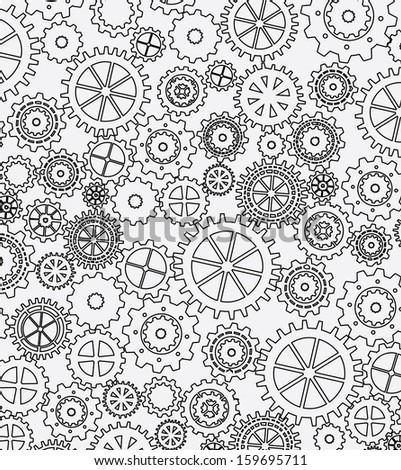 gears skin over white background vector illustration  - stock vector