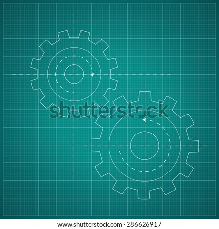 Gears symbol on blueprint paper background stock vector 2018 gears symbol on the blueprint paper background concept mechanics engineering malvernweather Image collections