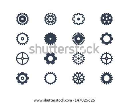 Gears vector - stock vector