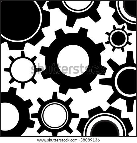 Gears vector - stock vector
