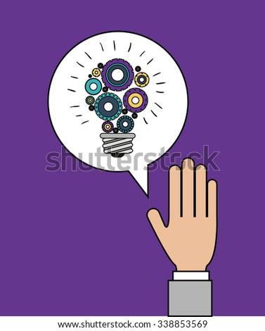 gears world design, vector illustration eps10 graphic - stock vector