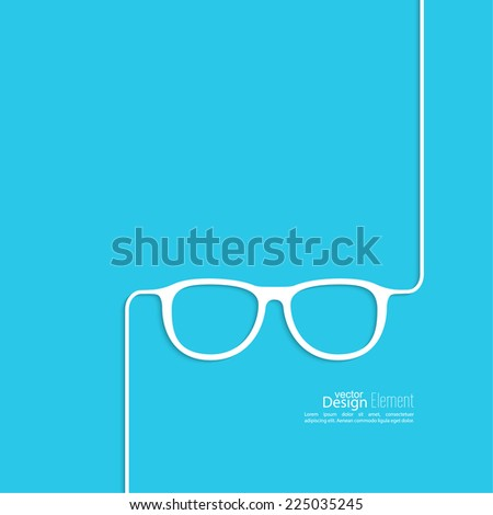 Geek glasses icon. Hipster and nerd style. for mobile apps, web sites and pages, t-shirt design.  blue, white - stock vector