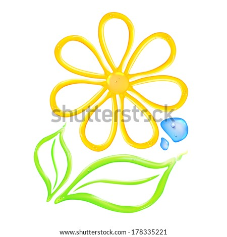 Gel flower icon. Vector illustration. - stock vector