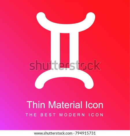 Gemini Zodiac Sign Symbol Red Pink Stock Vector 794915731 Shutterstock