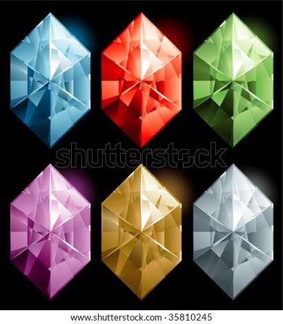 gems stone - stock vector