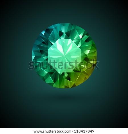 Gemstone background - stock vector