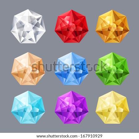 Gemstones. Vector eps10 - stock vector