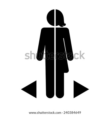 gender differences icon on a white background - stock vector