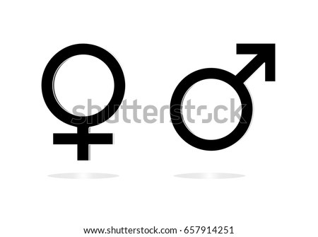 Gender Symbol Male Female Sexual Icon Stock Vector Royalty Free