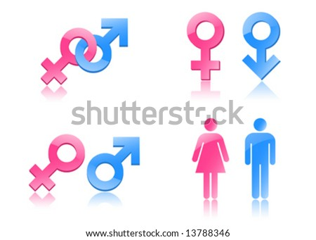 Gender symbols - stock vector