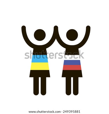 Gender symbols. Sexual revolution. Human rights. - stock vector