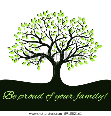 Genealogical Tree Concept Family Tree Template Stock Photo (Photo ...