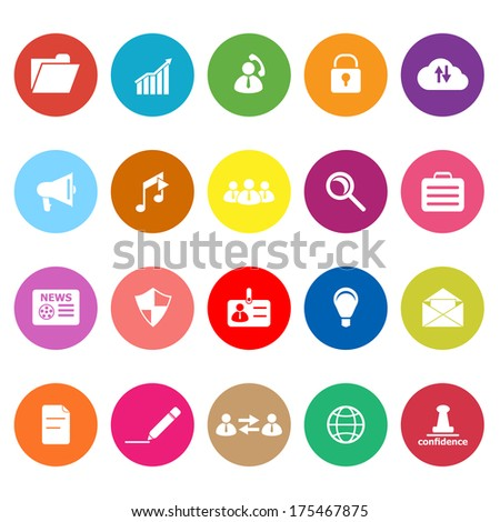 General document flat icons on white background, stock vector