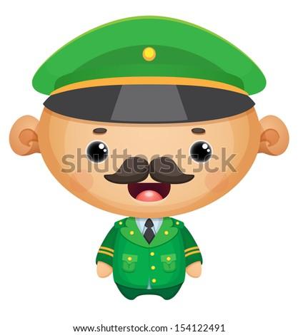 General officer - stock vector