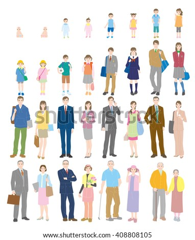 Generation. People of life. - stock vector