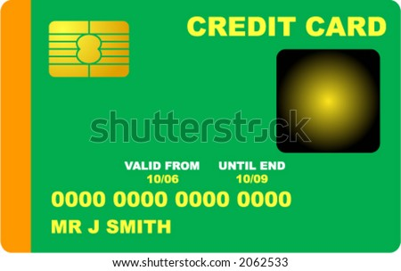 Generic Credit Card - stock vector