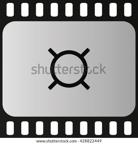 Generic currency symbol icon. - stock vector
