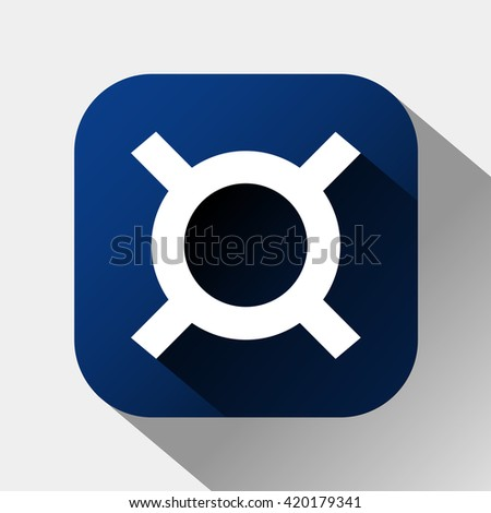 generic currency symbol icon. vector illustration - stock vector