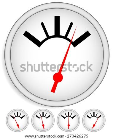 Generic dial, gauge, guage. Measurement, level indicators. - stock vector