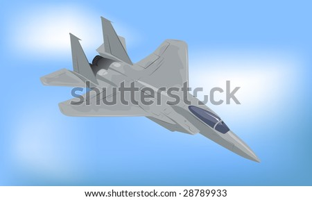 Generic Fighter Jet Vector Illustration - stock vector