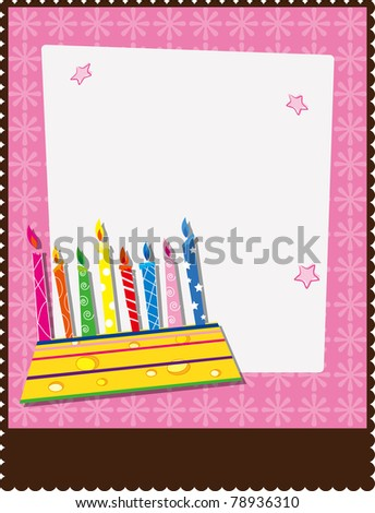 Generic Flier/Poster Template with cake - stock vector