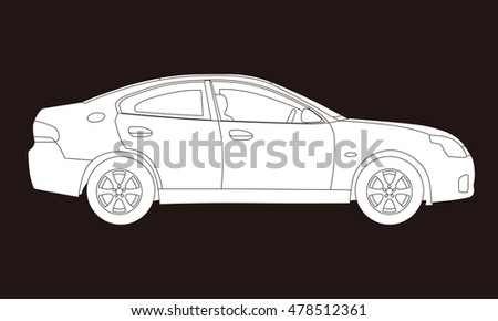 Line Drawing Of Car : Sports car line drawing at getdrawings free for personal use