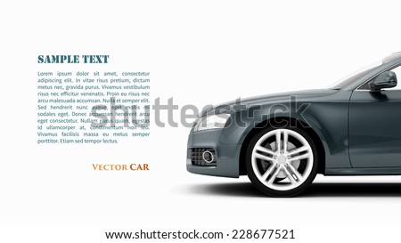 Generic luxury sport car isolated on a white background. Vector illustration - stock vector