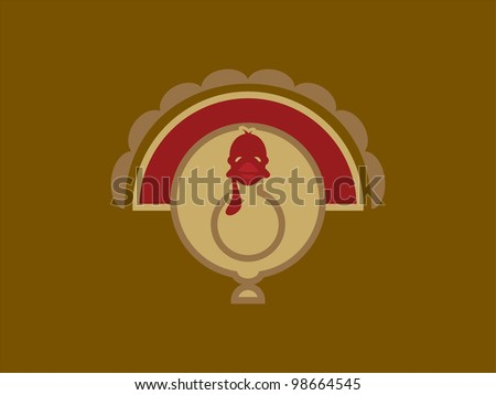 Generic Turkey Form ready for Thanksgiving! - stock vector