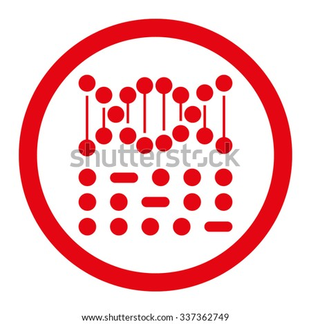 Genetic Code vector icon. Style is flat rounded symbol, red color, rounded angles, white background. - stock vector