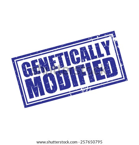 Genetically Modified, Grunge Stamp, Vector illustration - stock vector