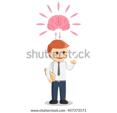 Genius businessman illustration - stock vector