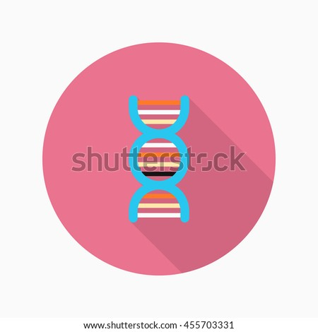 Genome icon , Vector flat long shadow design.