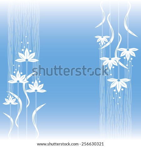 gentle decorative floral background. - stock vector
