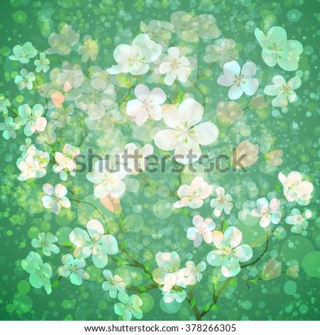 Gentle floral background - stock vector