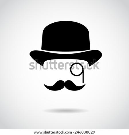 Gentleman icon isolated on white background. Vector art. - stock vector