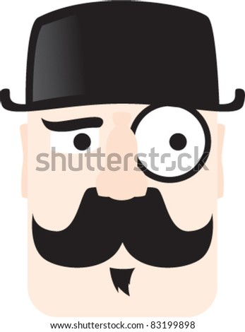 GENTLEMAN mustache - stock vector